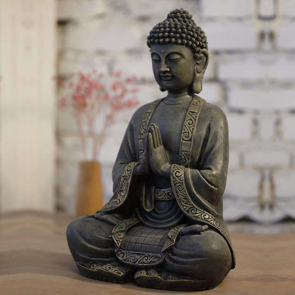 Zen Light Big Statue Buddha Meditation  Bronze 37.5x 15 x 24 cm - handmade items, shopping , gifts, souvenir