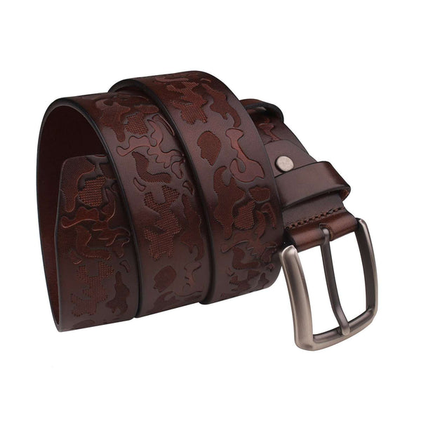 Mens Black Leather Studded Belt