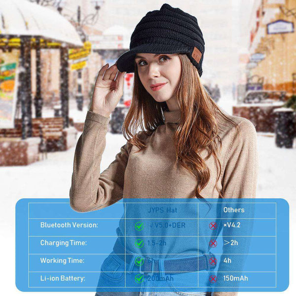 Wireless Beanie Hat Bluetooth 5 Music Headphones with Stereo Speakers Knitted Winter Hats - handmade items, shopping , gifts, souvenir