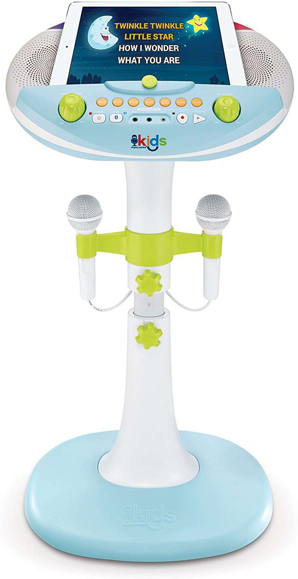Singing Machine Bluetooth Kids Karaoke Machine with Two Microphones
