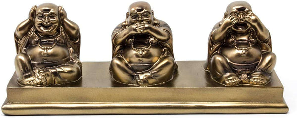 Collectables Three Wise Buddhas Hear No Evil Speak No Evil See No Evil Lovely Laughing Buddha Ornament - handmade items, shopping , gifts, souvenir