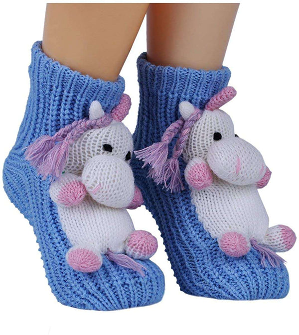 Non slip Knit Sweater Warm Household Floor Socks for Women Warm Winter Indoor Floor Slipper Socks 3D Cartoon Animal - handmade items, shopping , gifts, souvenir