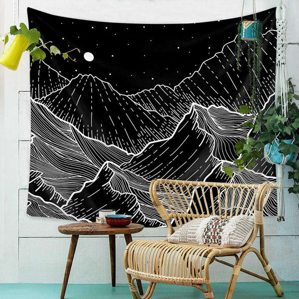 Wall Hanging Tapestry Moon Nordic Simple Geometry Home Decor - handmade items, shopping , gifts, souvenir