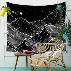 Wall Hanging Tapestry Moon Nordic Simple Geometry Home Decor