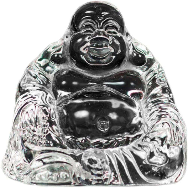 Crystal Glass Transparent Buddha Ornament with Gift Box - handmade items, shopping , gifts, souvenir