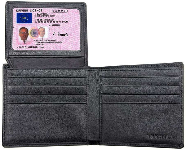 Black Leather RFID Blocking Wallets Mens - handmade items, shopping , gifts, souvenir
