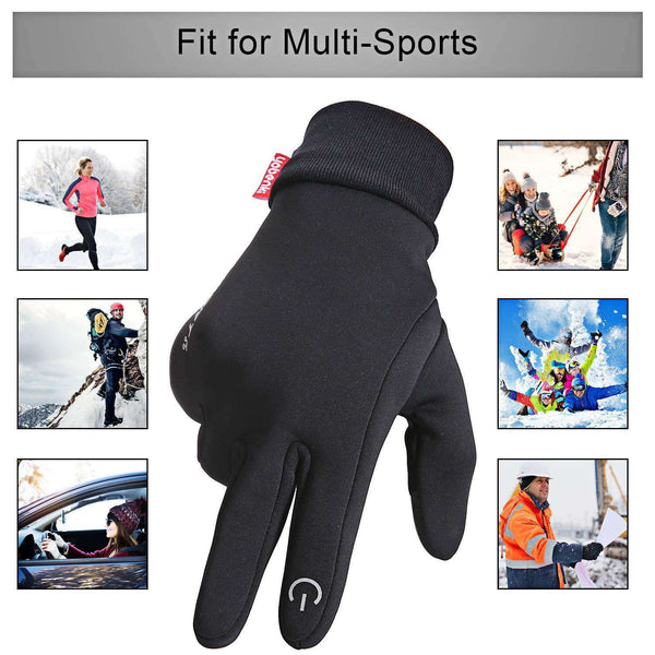 Winter Warm Gloves, Anti Slip Touch Screen Gloves Windproof Thermal Gloves Cold Weather Cycling Gloves for Men Women - handmade items, shopping , gifts, souvenir