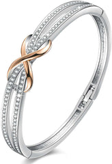 Angelady Silver Infinity Ladies Bracelets Bangles