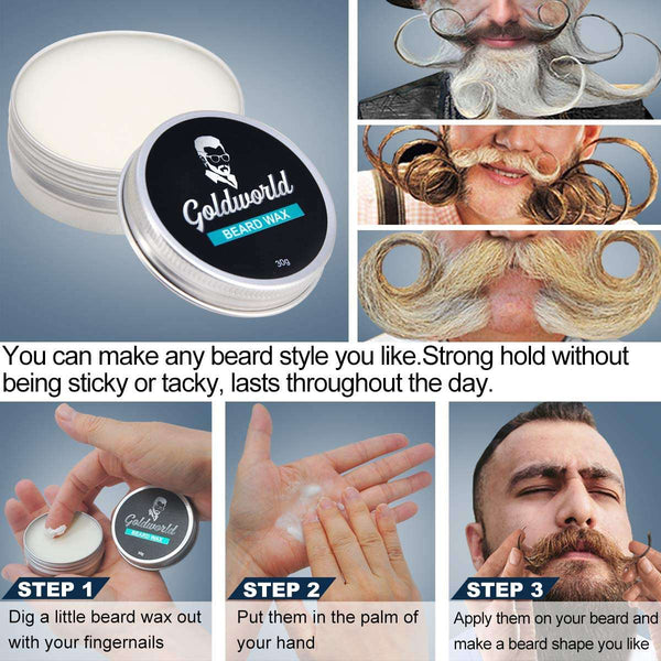 Beard Grooming Kit Growth Care Set Mens Gifts for Men - handmade items, shopping , gifts, souvenir