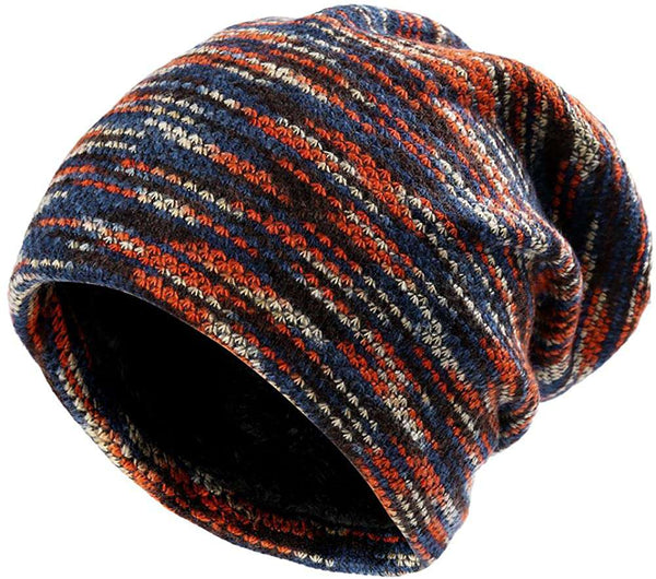 Unisex Beanie Hat Slouchy Warm Knitted Winter Hat Ski Hat Skull Cap Baggy Bobble Hat with Soft Fleece Lining - handmade items, shopping , gifts, souvenir