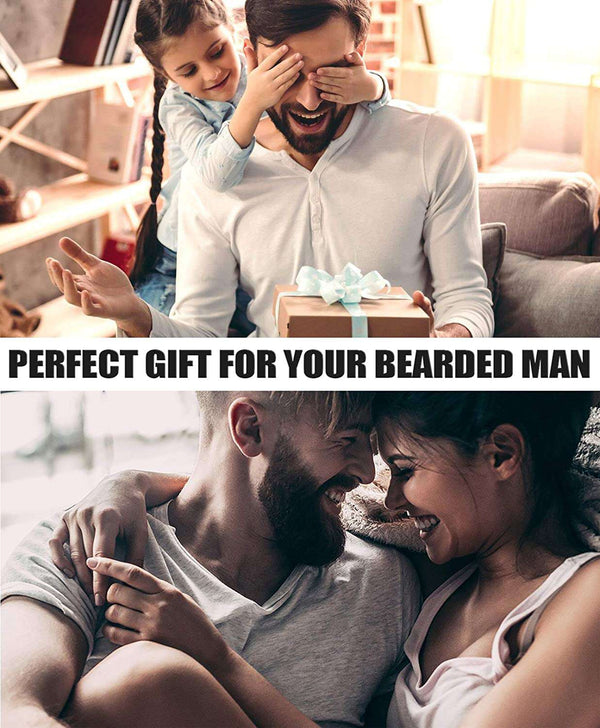 Beard Grooming Kit for Men Perfect Gifts for Him Include Brush Comb Scissors Shaping Tool & Guard - handmade items, shopping , gifts, souvenir