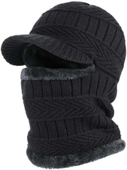 Winter Knit Beanie Hat with Flexible Neck Warmer Unisex Windproof Warm Face Mask