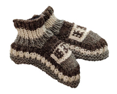Winter Warm Handmae Indoor Slipper Woolen Socks - Wool Socks