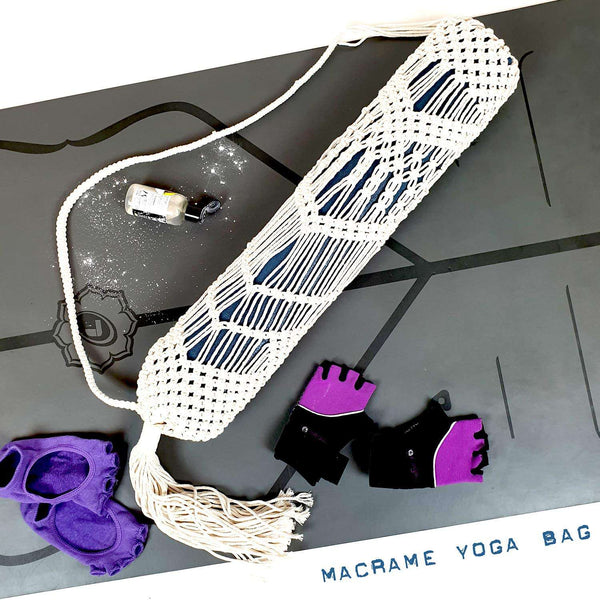 Macrame Natural Cotton Yoga Mat Bag Eco Friendly Vegan Yoga Gifts