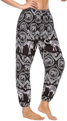 Women Hippie Pants Baggy Hippy Bohemian Patterned High Trousers