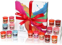 Luxury Candles Gift Set with 12 Scented Wax