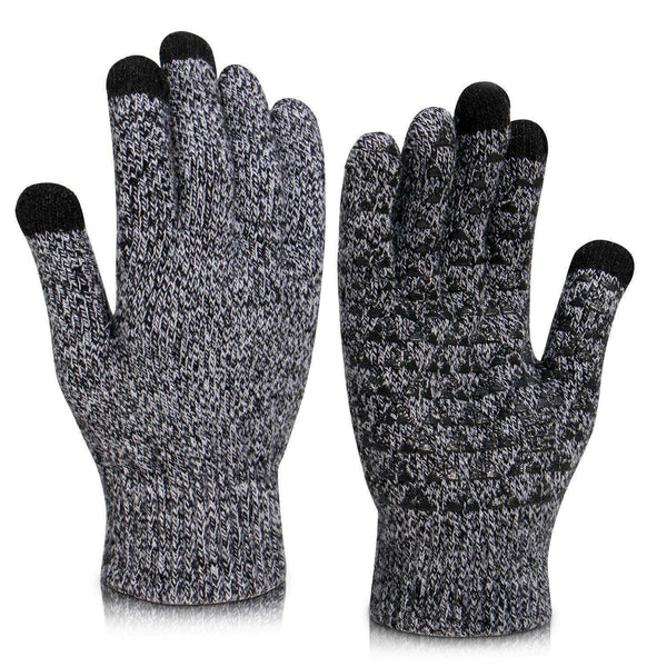 Winter Knit Gloves Touchscreen Women Men Thermal Soft Wool Lined Texting Gloves Running Outdoor Fleece Warm Gloves - handmade items, shopping , gifts, souvenir
