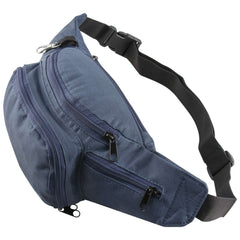 Zipped Pocket Blue Bum Waist Bag Travel