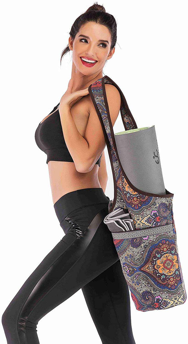 Yoga Mat Bag with Large Size Pocket and Zipper Pocket - handmade items, shopping , gifts, souvenir