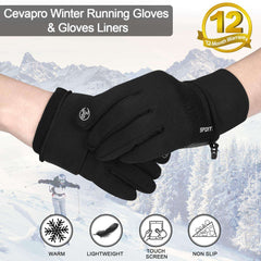 TOLEMI Winter Gloves Running Thermal Gloves Warm Gloves Anti-slip Touchscreen Gloves for Men Women Sport Walking Riding Driving Cycling
