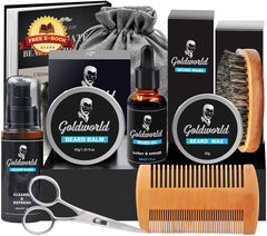 Beard Grooming Kit Growth Care Set Mens Gifts for Men