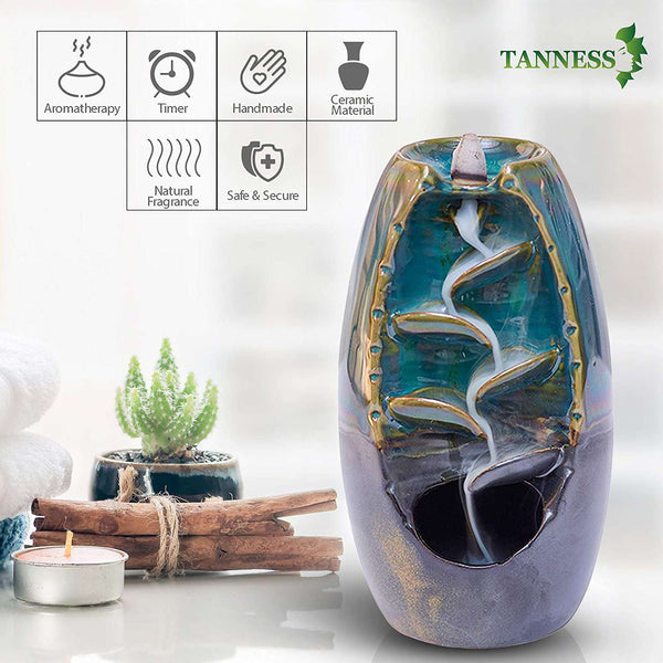 Incense Burner Censer Smoking Flow Stick Holder Craft for Home Office Handicraft Decoration - handmade items, shopping , gifts, souvenir