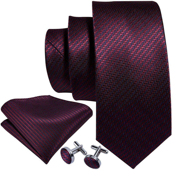 Solid Silk Tie Pocket Square Cufflinks Set - handmade items, shopping , gifts, souvenir