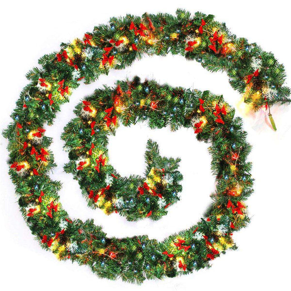 9ft Christmas Garlands LED Light Decoration - handmade items, shopping , gifts, souvenir