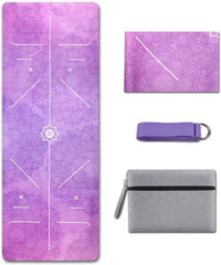 Foldable Thick Non-Slip Travel Yoga Mat Cover Pad Sweat Absorbent