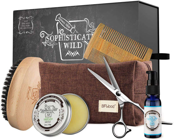 Beard Grooming Care Kit for Trimming Softening Shaping Conditioning Styling - handmade items, shopping , gifts, souvenir