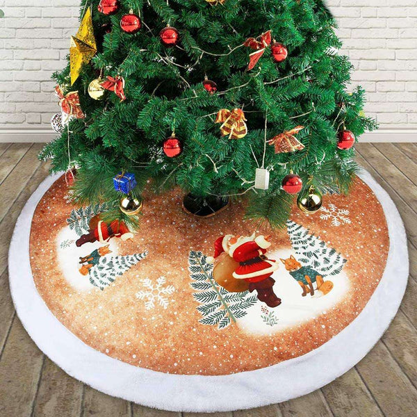 Double Layers Handicraft Xmas Tree Skirt Christmas Party Home Decor - handmade items, shopping , gifts, souvenir