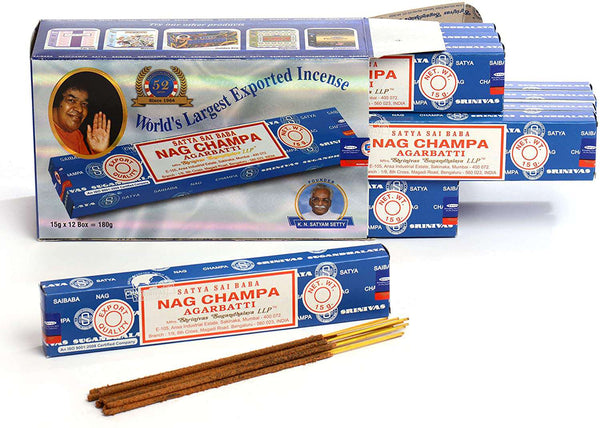 Nag Champa Incense Sticks 15 gms Special 12 Pack - handmade items, shopping , gifts, souvenir