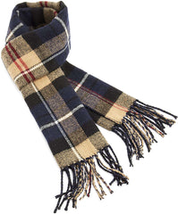 Mens Scarfs Winter With a Trendy Tartan Design Super Soft Warm