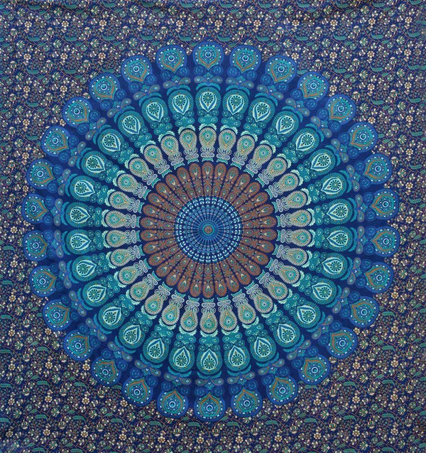Multi Colored Mandala Tapestry Wall Hanging - handmade items, shopping , gifts, souvenir