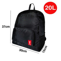 Tuff Foldable Backpack Lightweight Rip-Stop Nylon 20 L Black