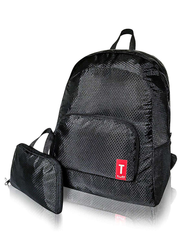 Tuff Foldable Backpack Lightweight Rip-Stop Nylon 20 L Black - handmade items, shopping , gifts, souvenir