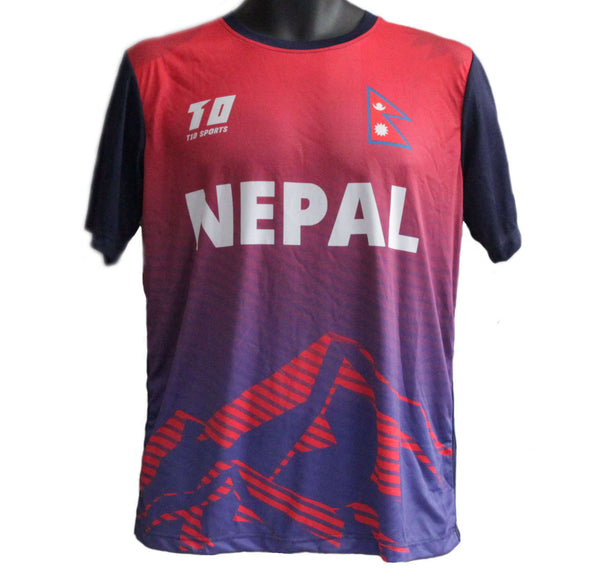 Nepal Cricket T-shirt @2018 - handmade items, shopping , gifts, souvenir