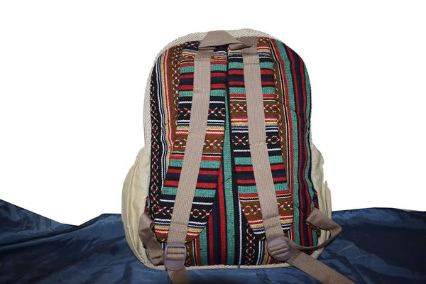 Vegan Drawstring Fashion Laptop Backpack for Men and Women Hemp Bag - handmade items, shopping , gifts, souvenir