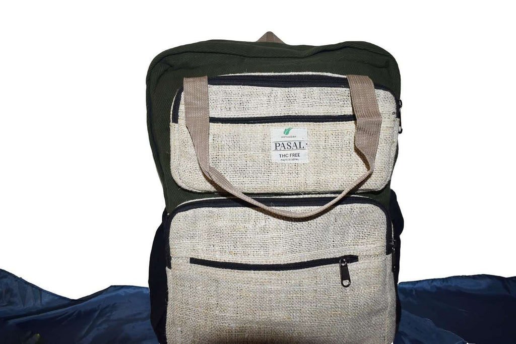 Green Laptop Bag with Handle - Pasal