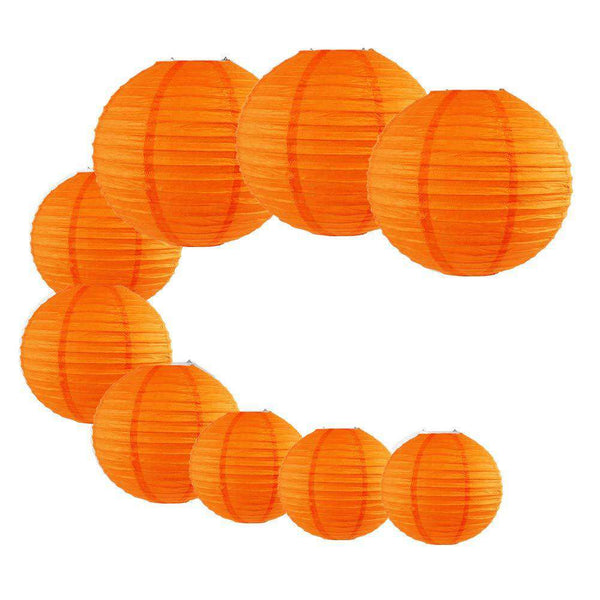 9pcs Party Favor Round Paper Lanterns