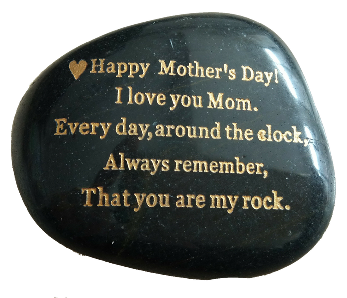 Mother's Day gift, engraved stone. - STERLINGCLAD
