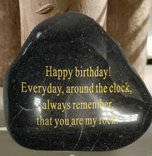 Load image into Gallery viewer, Adult Birthday Gift Engraved Rock - STERLINGCLAD