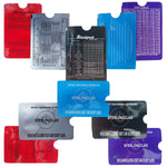 Credit Card Protector Sleeves-10 RFID Blocking Sleeves-Each sleeve holds 5 bills and 2 cards-Effective Protection Against ID Thieves-Handy Reference Charts on Each Sleeve