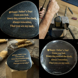 Father's Day Gifts, Engraved Rock gift - STERLINGCLAD