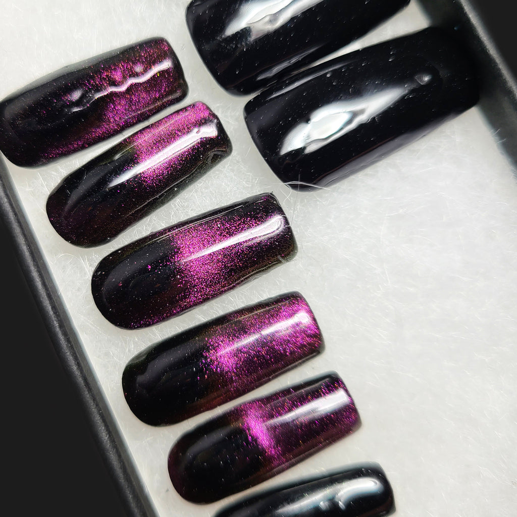 Multichrome Galaxy - Premade Nails