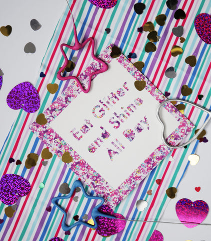 Eat Glitter and Shine All Day Greeting Cards