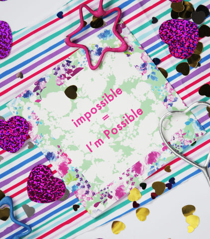 Impossible = I'm Possible Greeting Cards