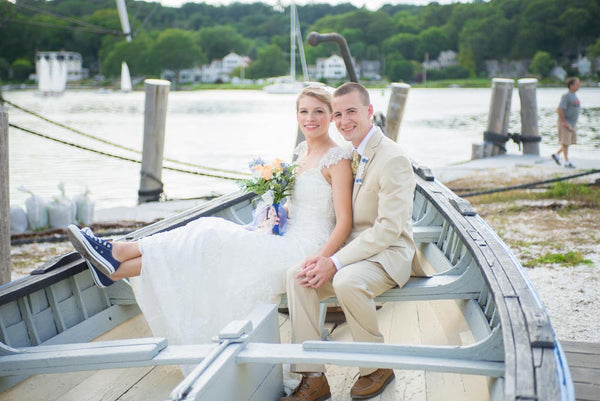 Mystic Seaport Wedding - Reef Knot Boutonniere