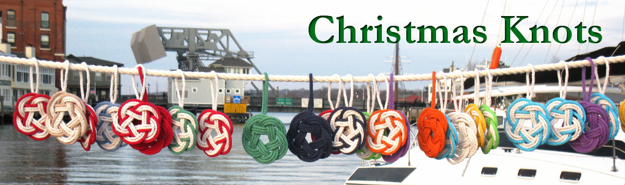Nautical Christmas ornament picture with Mystic Drawbridge in the background