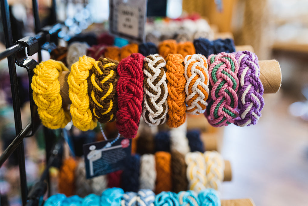 Rope bracelets in every color